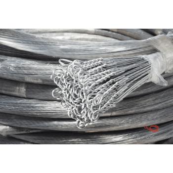 12 Gauge Galvanized Single Loop Bale Ties - Length (Feet) : 21- Ties per Bundle : 125
