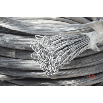 13 Gauge Galvanized Single Loop Bale Ties